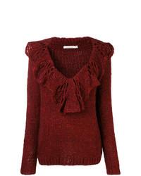 Mes Demoiselles Chunky Knit Ruffled Sweater