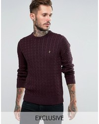 Sweater with cable knit medium 798583