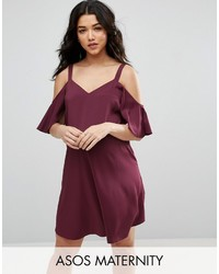 Asos Maternity Cold Shoulder Slip Dress