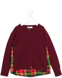 Junior Gaultier Shirt Panel Cardigan