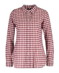 J.Crew Crinkle Gingham Shirt Bright Ruby