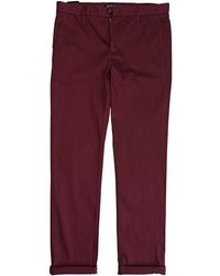 Burgundy chinos original 464202