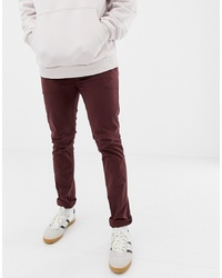 Nudie Jeans Co Slim Adam Chinos In Plum