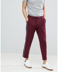 ASOS DESIGN Skinny Crop Smart Trousers With Fringe
