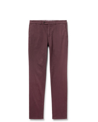Brunello Cucinelli Slim Fit Cotton Blend Twill Trousers