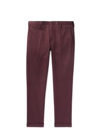 Paul Smith Slim Fit Tapered Cotton Blend Twill Trousers