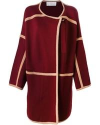 Chloé Contrast Trim Cardi Coat