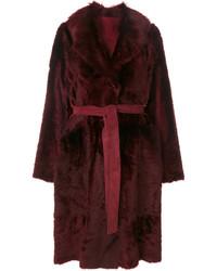 Yves Salomon Tie Coat
