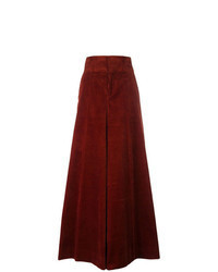 Burgundy Corduroy Wide Leg Pants