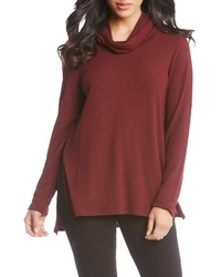 Burgundy Cowl-neck Sweater
