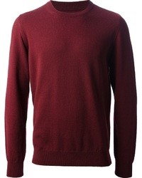 Burgundy crew neck sweater original 401778