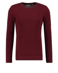 Carn jumper maroon melange medium 3766552