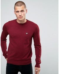 Sweater with crew neck with eagle logo in burgundy medium 1343058