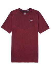 Burgundy Crew-neck T-shirt