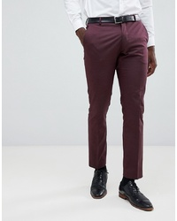 Selected Homme Slim Fit Suit Trouser In Damson