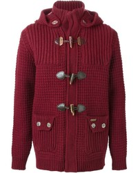 Burgundy Duffle Coat