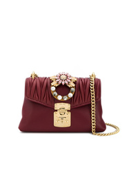 Miu Miu Embellished Shoulder Bag