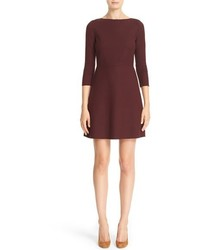 Theory Kamillina Saxton Stretch Wool Fit Flare Dress