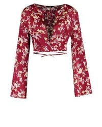 Missguided Blouse Red