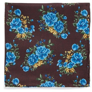 The Tie Bar Floral Silk Pocket Square