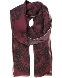 Valentino Floral Lace Print Scarf