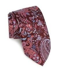 Burgundy Floral Tie