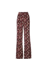 Veronica Beard Floral Print Trousers