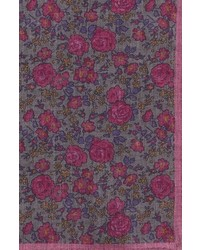 Ted Baker London Moody Floral Wool Pocket Square