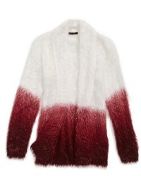 Ella Moss Suki Dip Dye Fuzzy Cardigan