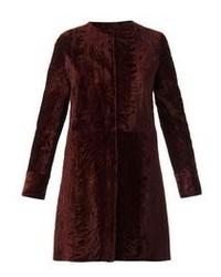 Reversible astrakhan fur coat medium 81412
