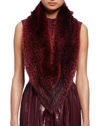 Lanvin Fox Fur Stole Burgundy