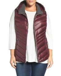 Andrew Marc Plus Size Hooded Down Vest