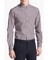 Topman Slim Fit Gingham Check Dress Shirt