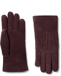 Loro Piana Water Resistant Shearling Gloves