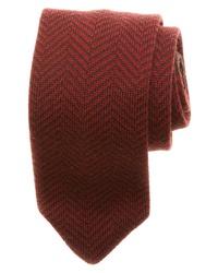 Burgundy Herringbone Tie