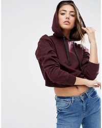 Asos Cropped Pullover Hoodie