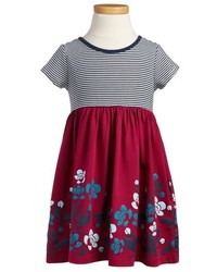 Tea Collection Flower Garden Stripe Floral Print Dress