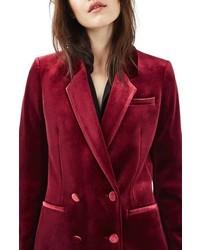 Topshop Velvet Suit Jacket