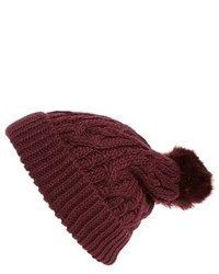 Knit pompom beanie pink medium 807085