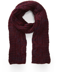 Burgundy Knit Scarf