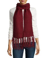 Burgundy Knit Scarf