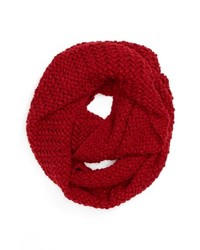 David & Young Knit Infinity Scarf Red One Size