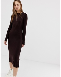 ASOS DESIGN Rib Knit A Line Midi Dress