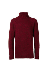 Burgundy Knit Turtleneck