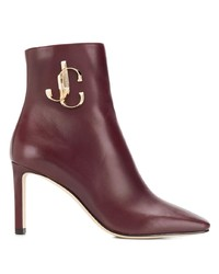 Jimmy Choo Heeled Logo Ankle Boots