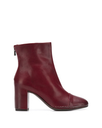 Del Carlo Rear Zip Ankle Boots