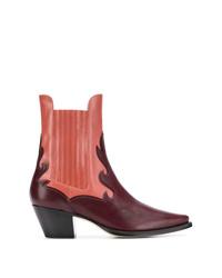Alberta Ferretti Two Tone Western Boots