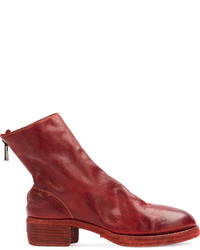 Guidi Zip Detail Ankle Boots