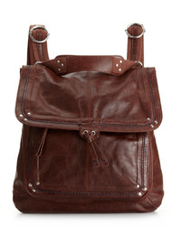 Burgundy Leather Backpack