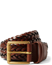 Andersons 35cm brown woven leather belt medium 589293